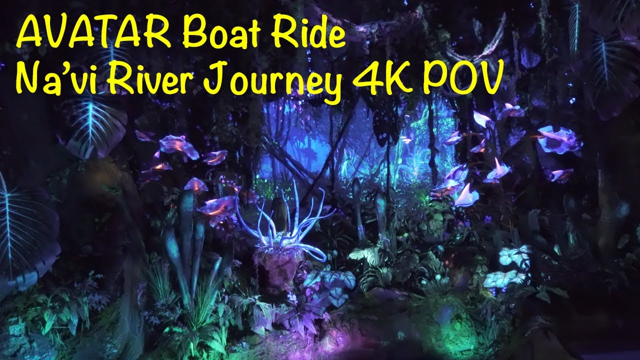 Navi River Journey Boat Ride 4K POV Pandora Avatar Land Walt Disney World Animal Kingdom Park
