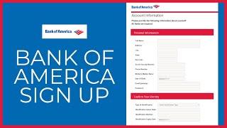 How to Open Bank of America Account Online? - bankofamerica.com