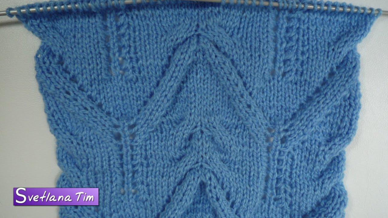 схемы вязания горизонтальных зигзагом полосок спицами