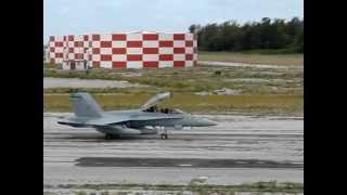 USMC FA 18 taxiing Midway Atoll NWR Henderson Field Aug 2 2012 J Klavitter USFWS