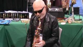 Don Menza plays the Saxgourmet Super 400 at NAMM