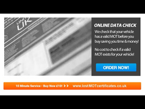 Lost MOT Certificate UK - Replacement MOT Certificates in 10 Minutes Video