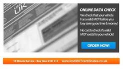 Lost MOT Certificate UK - Replacement MOT Certificates in 10 Minutes Video