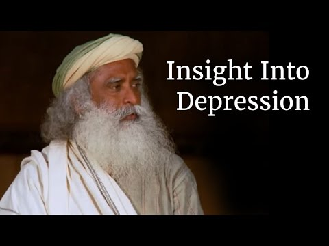 Insight Into Depression - Sadhguru talks in a Darshan at Isha Yoga Center