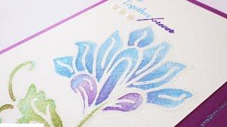 Card tecnica mista Acquerelli - Mix technique watercolour card