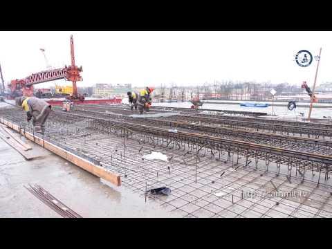Стройка Витебщины №1. На Полоцком путепроводе уже соединяют мост над железной дорогой