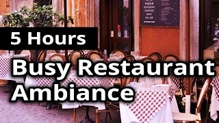 CITY AMBIANCE: Busy Restaurant / Diner - 5 HOURS Ambient Sounds