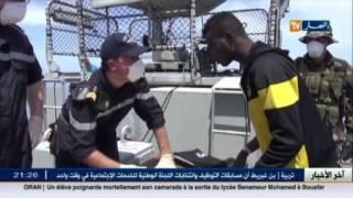 طراد فرنسي يشارك القوات البحرية الإيطالية في الحد من الهجرة السرية