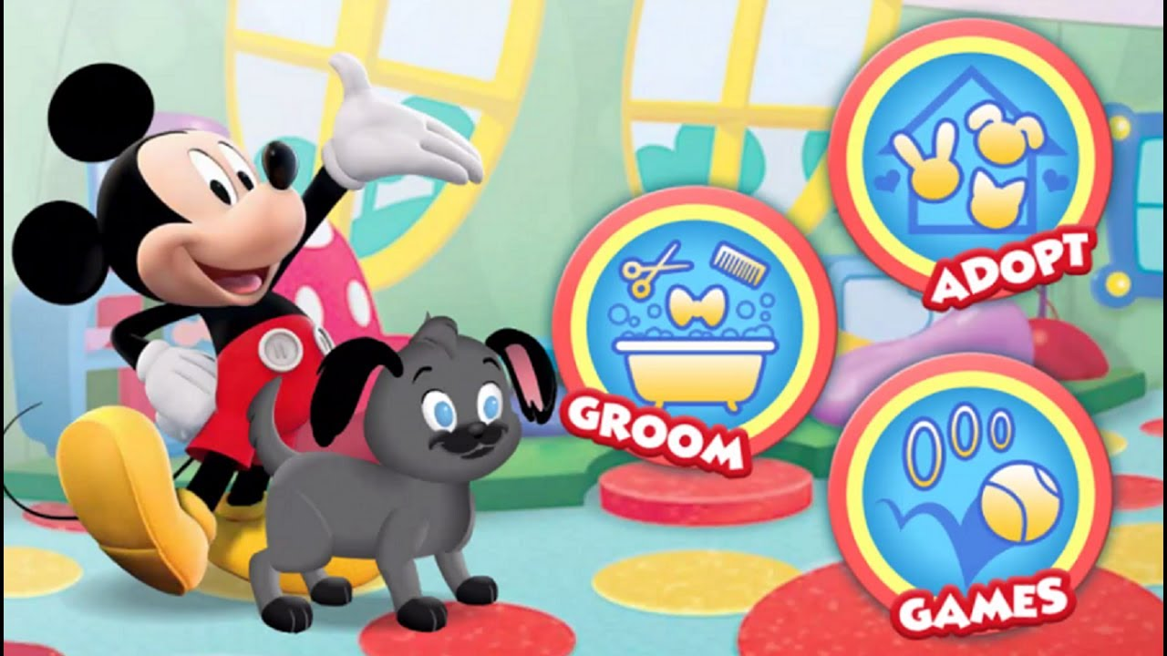Mickeymouseclubhouse Mickey S Pet Playhouse Game Mickeymouse Dog Care Fun House Disney Junior Games Mickey Mouse Games Mickey Mouse Clubhouse