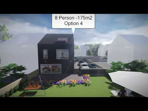 Buildeco flat-pack FlexiHouse '4Bed House' (Option 4)