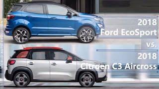 2018 Ford EcoSport vs 2018 Citroen C3 Aircross (technical comparison)