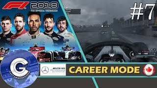 Let's Play F1 2018 Career Mode   Mercedes Career #7   HEAVY RAIN!