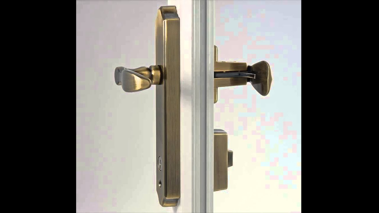 Exceptionnel Ideal Security SK1215 Series Deluxe Storm Door Lever Set With Keyed Deadbolt