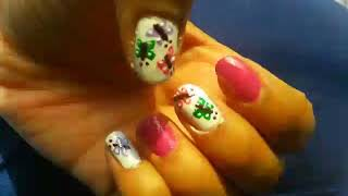 No tool butterfly nail art tutorial