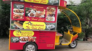 SOUTH INDIAN FOOD ON E-RICKSHAW/SSI SMALL CATERING VAN#DELHI#ELECTRIC FOOD VAN#SAI STRUCTURES INDIA