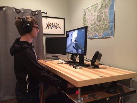 ถูกหลักอนามัย วิธีการสร้างโต๊ะคอมพิวเตอร์แบบยืนสำหรับ