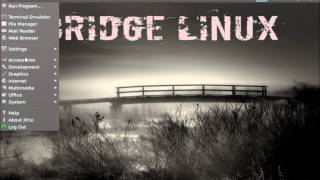 Bridge Linux 2012.4 Xfce Presentation ( Arch Linux Based Distribution )