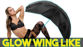Glow Wing Like Umbrella Review   Parabolic Light Modifier for Flash Photography