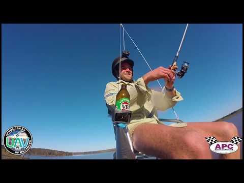HUMAN LIFTING FISHING DRONE - WORLD FIRST