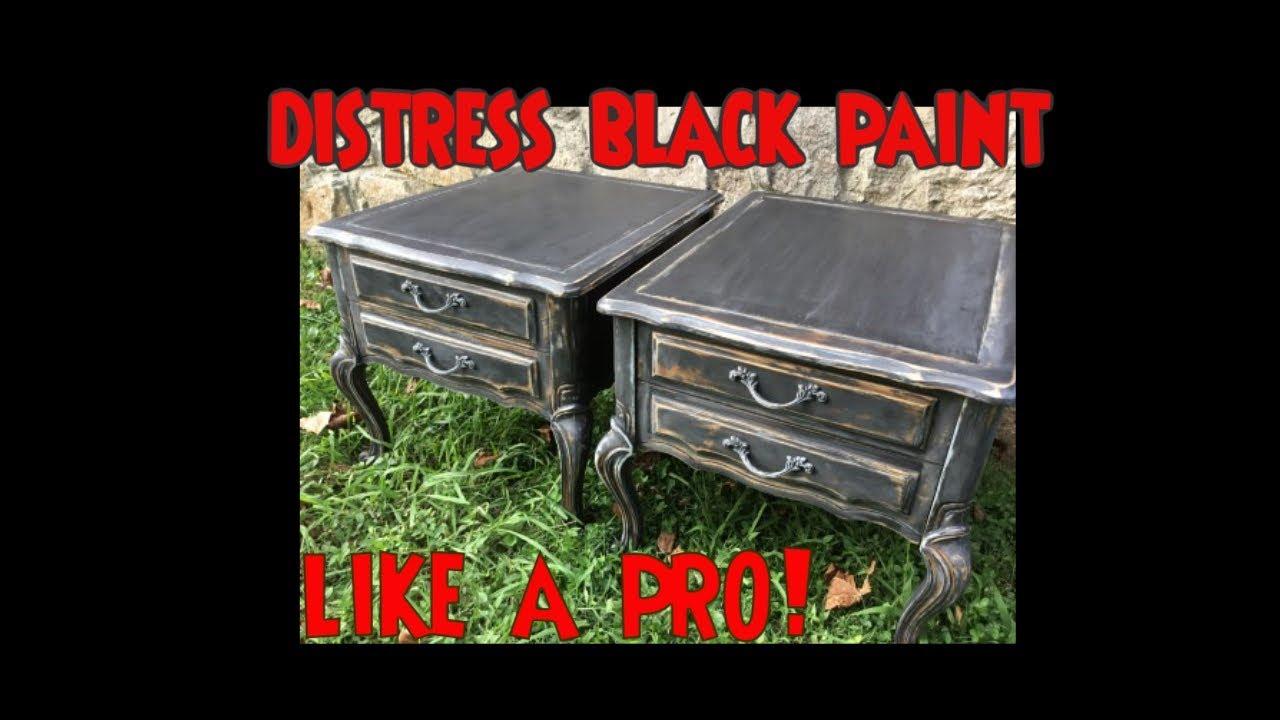 Diy Black Distressed Furniture Amp Cabinets W Chalk Paint