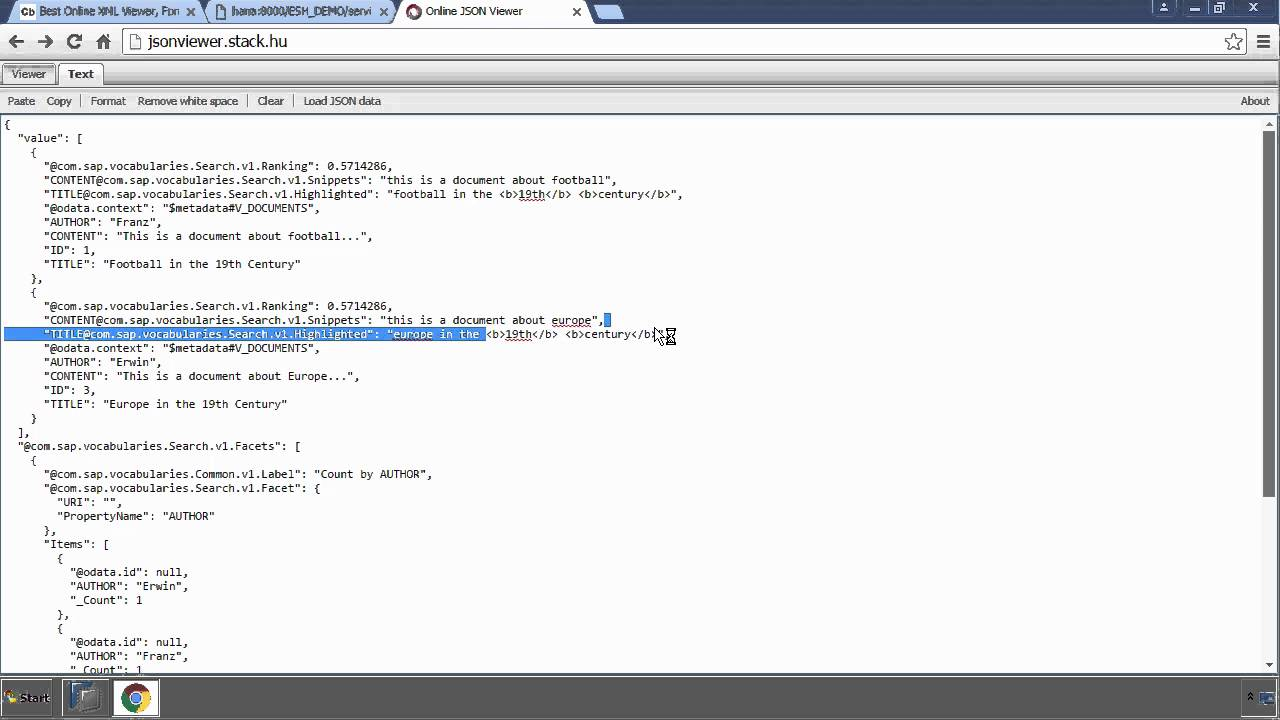 SAP HANA Academy - Text Search: ESH_SEARCH - Using ESH_SEARCH