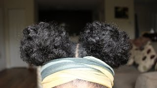 Natural Hair | Two buns (Space buns)
