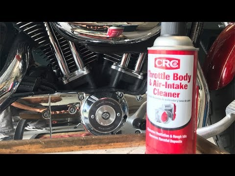 Harley Sportster Idle Air Control Cleaning.