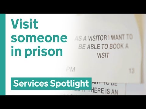 Book a prison visit online