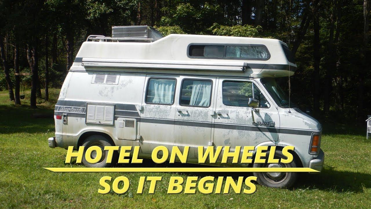 572742f0ad61c6 Hotel on wheels  1 ~ So it begins! 1990 Dodge Horizon Campervan ...