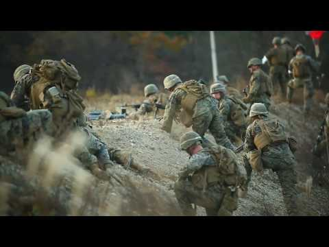 Marines Conduct Platoon Assault In ROK
