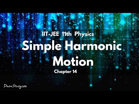 Simple Harmonic Motion for IIT-JEE Physics | CBSE Class 11 XI | Video Lecture in Hindi