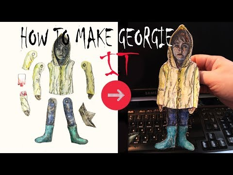 HOW TO MAKE IT (GEORGIE) Puppet from IT MOVIE 2017 Ft. Pennywise the Dancing Clown