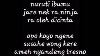Lirik lagu NDX A K A kimcil kepolen