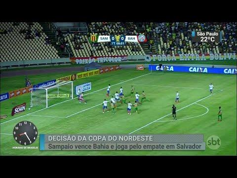 Sampaio sai na frente do Bahia em decisão importante no Nordeste | SBT Brasil (05/07/18)