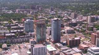 Calgary Skyline Aerial 60 days before Lehman Bros meltdown July 2008