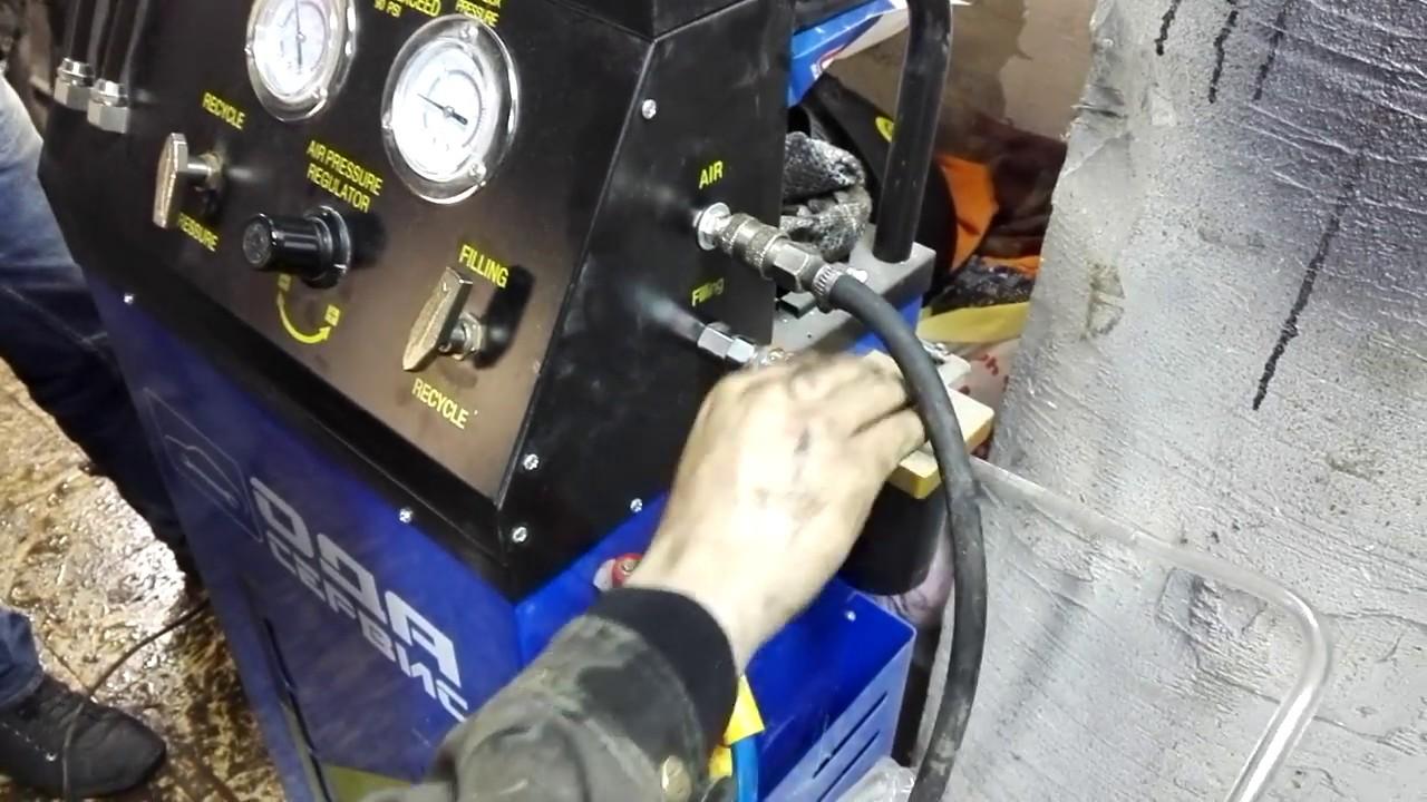 Начальный процесс замены масла в АКПП БМВ 5hp18, промывка