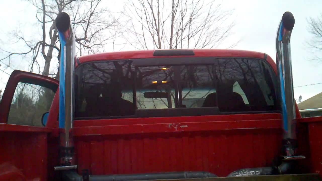 Ram 1500 Exhaust >> Dodge ram exhaust stacks - YouTube