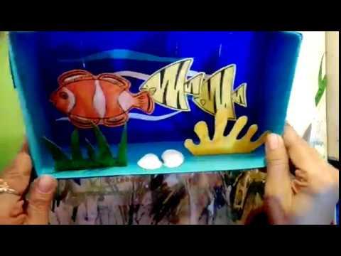 BEST OUT OF WASTE- Fish aquarium using wintex tissue box
