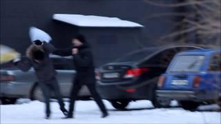 Бой подушками в Усть-Каменогорске/Pillow fight in Ust-Kamenogorsk