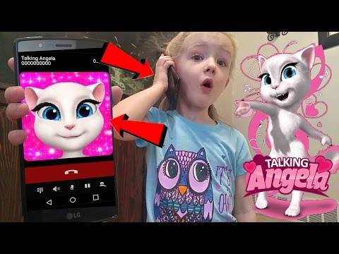 Talking Angela Called Me and I Answered *OMG* Calling on Android Kids Game Gone Wrong
