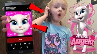 Talking Angela Called Me and I Answered *OMG* Calling on Android Ki...