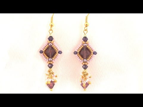 Beading4perfectionists: Tinted Grace earrings Advanced beading tutorial