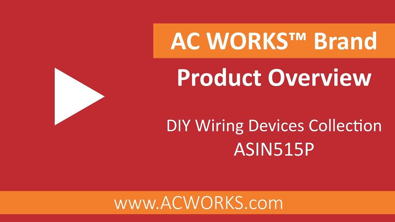 AC WORKS NEMA 5-15P 15A 125V Straight-blade Plug with UL C-UL Approval AS515P