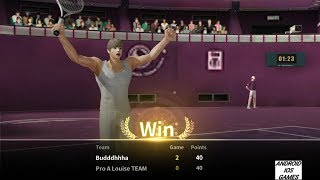 Ultimate tennis - Arena mode is so easy when opponent internet connection gets lost 😂