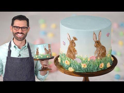 Easter Rabbit Cake Decorating