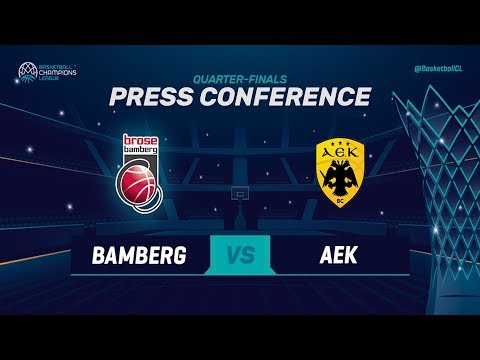 Brose Bamberg v AEK - Press Conference - Basketball Champions League 2018