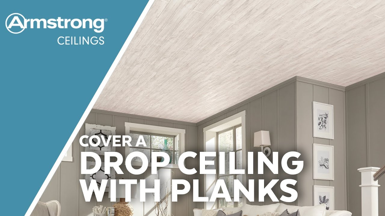 Cover A Drop Ceiling With Wood Look Planks Armstrong Ceilings For The Home