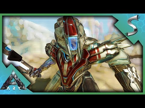 THE MEK SUIT! CHECKING OUT THE SHIELD, ROCKETS AND SHOULDER CANNON! - Ark: Extinction [DLC Gameplay]