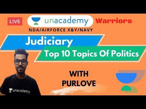 Top 10 Topics Of Politics - Judiciary | NDA 2020 | Crack NDA 2020 | Purlove