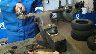 Замена пальцев поперечной и продольной тяги на ГАЗ 53